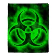 glowingBiohazardGreenJNL Throw Blanket