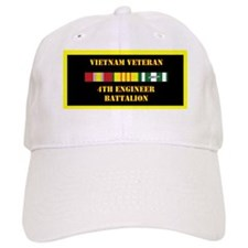 army-4th-engineer-battalion-vietnam-lp Baseball Cap