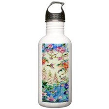 HUMMINGBIRD_STAINED_GL Water Bottle