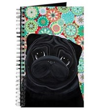 Black Pug circles Journal