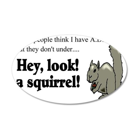 add squirell 35x21 Oval Wall Decal