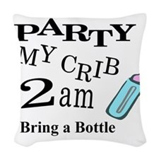 partymy crib Woven Throw Pillow
