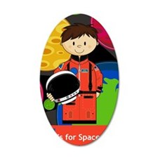 Spaceman Scene Wall Decal