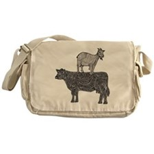 Goat on cow-2 Messenger Bag