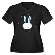 hoppy_easter Women's Plus Size Dark V-Neck T-Shirt