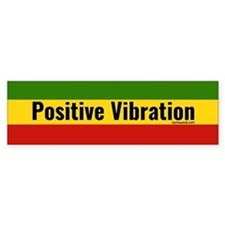 Rasta Gear Shop Positive Vibration Bumper Bumper Sticker