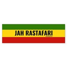 Rasta Gear Shop Jah Rastafari Bumper Car Sticker