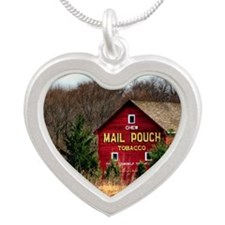 mail pouch barn (2) Silver Heart Necklace