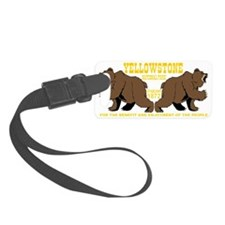 two_bears_YNP_transparent Luggage Tag