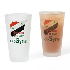 Freedom for syria Drinking Glass