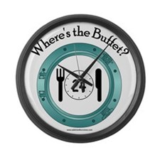 Wheres the Buffet Large Wall Clock