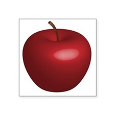 "redapple Square Sticker 3"" x 3"""