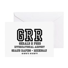 AIRPORT CODES - GRR - GERALD R FORD, Greeting Card