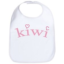 """Kiwi with Hearts"" Bib"