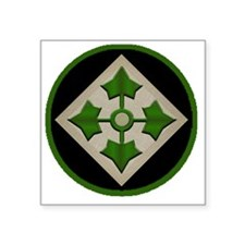 "4th-Infantry-Division-round Square Sticker 3"" x 3"""