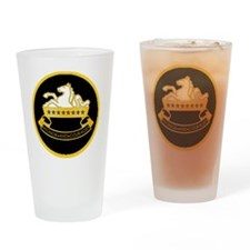 8th-Cavalry-round-charm Drinking Glass