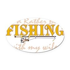 fishingwife2 Oval Car Magnet