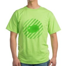big_jelly_bean_green_stripes_b T-Shirt