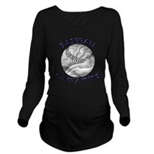 baseball Long Sleeve Maternity T-Shirt