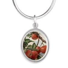 Apples_TILE Silver Oval Necklace