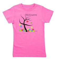 Retired Librarian Tree Bubbles Girl's Tee