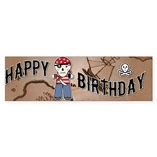 BirthdayBannerPirate42x14 Bumper Sticker