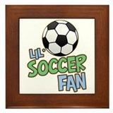 Lil' Soccer Fan Framed Tile