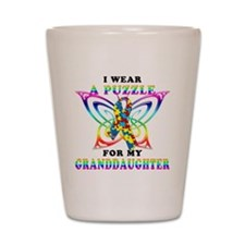 I Wear A Puzzle for my Granddaughter Shot Glass