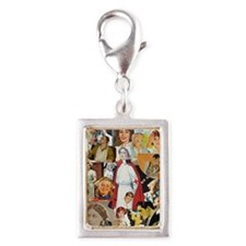 nurse collage mousepad Silver Portrait Charm