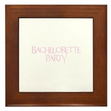 Bachelorette Party - Funky Pi Framed Tile