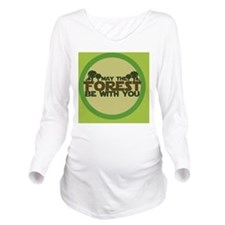 Earth Day Long Sleeve Maternity T-Shirt