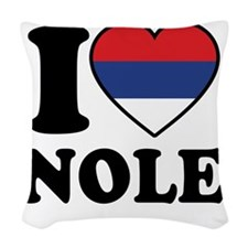 Nole Serbia Woven Throw Pillow