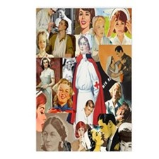 nurse collage journal Postcards (Package of 8)