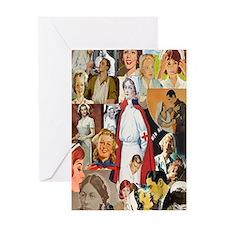 nurse collage journal Greeting Card
