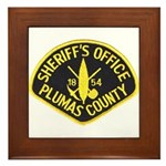 Plumas Sheriff Framed Tile