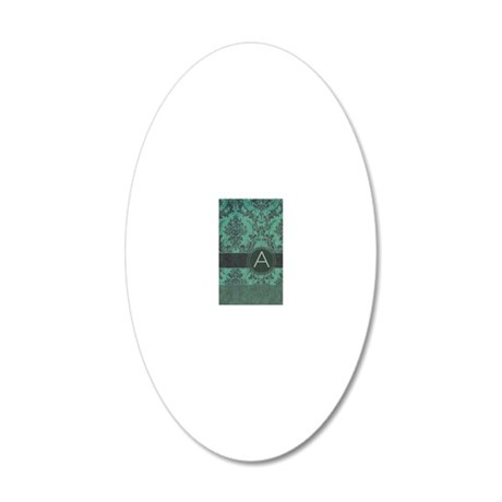 443_slider_monogram_A_02 20x12 Oval Wall Decal