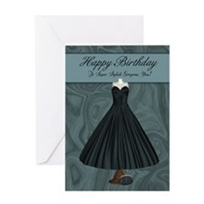 Super Stylish You Birthday Greeting Card With Gown