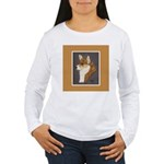 Corgi Head Study Women's Long Sleeve T-Shirt