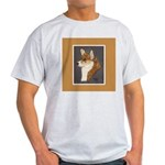 Corgi Head Study Ash Grey T-Shirt