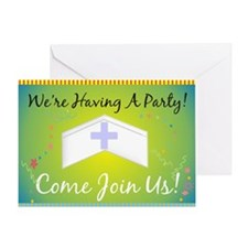 Nurse party Generalized BLUE Yellow Greeting Card