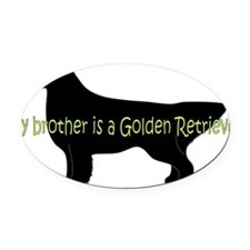 Golden_Brother Oval Car Magnet