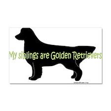 Golden_Siblings Car Magnet 20 x 12