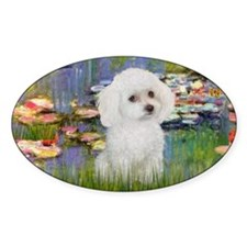 LIC - Lilies 2 - Poodle (White toy) Decal