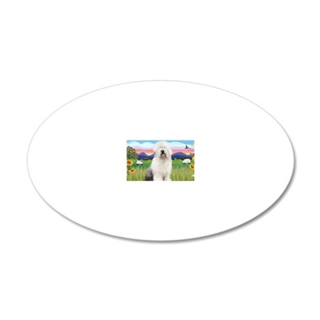 LIC - Summer Field - Old Eng 20x12 Oval Wall Decal