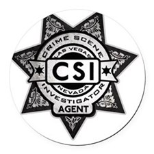 Badge.CSI.Fake Round Car Magnet