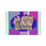 3 Yorkie Puppies Rectangle Magnet (10 pack)