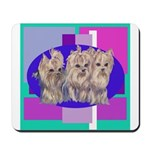 3 Yorkie Puppies Mousepad