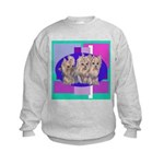 3 Yorkie Puppies Kids Sweatshirt