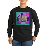 3 Yorkie Puppies Long Sleeve Dark T-Shirt