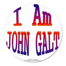 I am John Galt2 Round Car Magnet